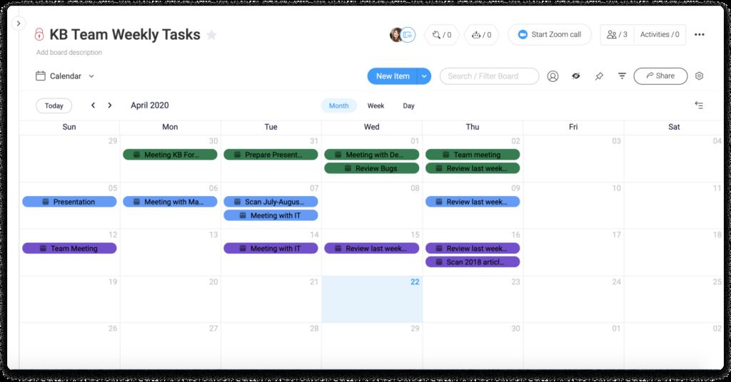 calendar view monday.com pricing