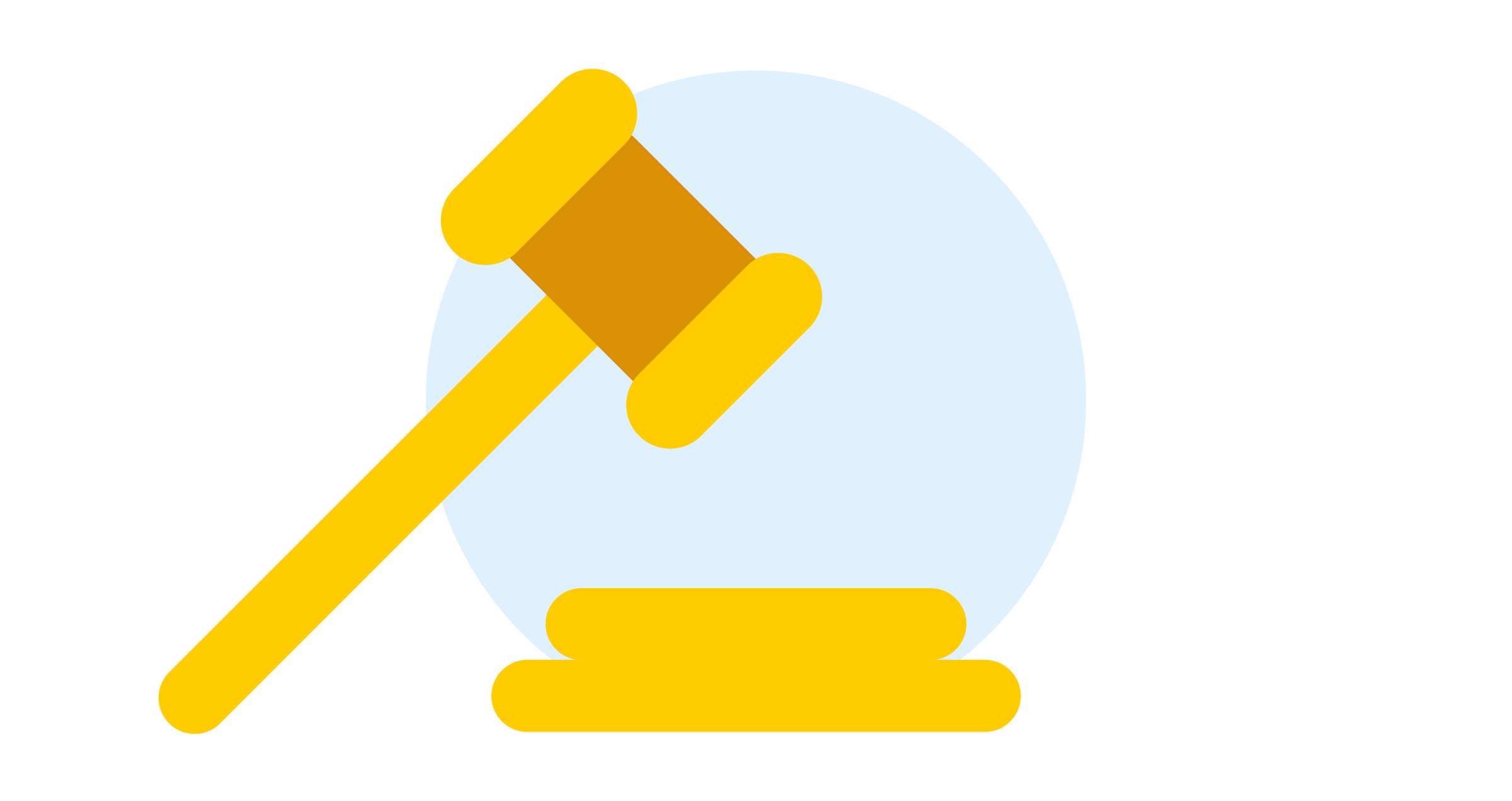 An illustrated gavel