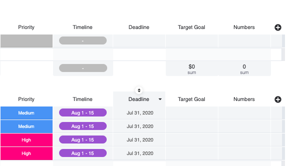 marketing strategy tracker template 3
