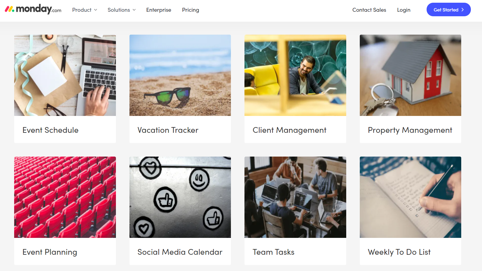 monday.com template library