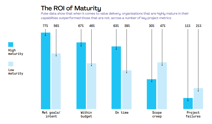 ROI of project management maturity